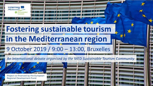 "The MED Sustainable Tourism Community will organise on the 9th of October 2019 an event about ""Fostering sustainable tourism in the Mediterranean region"".  This event, organised in the framework of the European Week of Cities and Regions, has the objective of triggering the discussion on the importance of a sustainable approach in European tourism, with a special focus on the Mediterranean area and the next programming period.  As member of the MED Sustainable Tourism Community and partner of the MITOMED+ P"