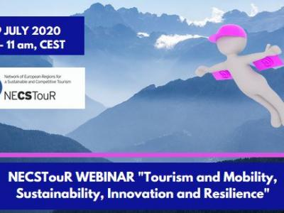 "NECSTouR WEBINAR ""Tourism and Mobility: Sustainability, Innovation and Resilience"""
